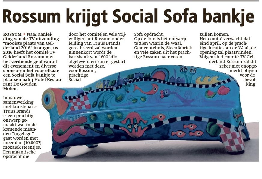 Social Sofa komt naar Rossum
