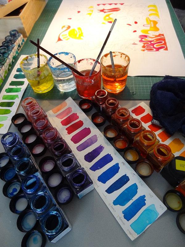 "The making of de ""papieren"" bril !"